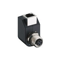 ADAPTER, RJ45 8P4C RECEPTACLE - M12 4 POSITION RECEPTACLE