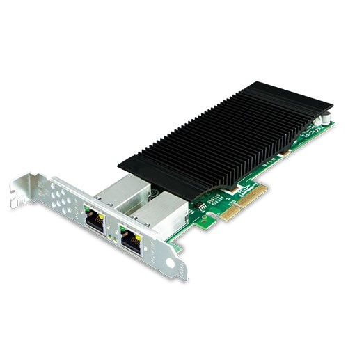 2-Port 10/100/1000T 802.3at PoE+ PCI Express Server Adapter