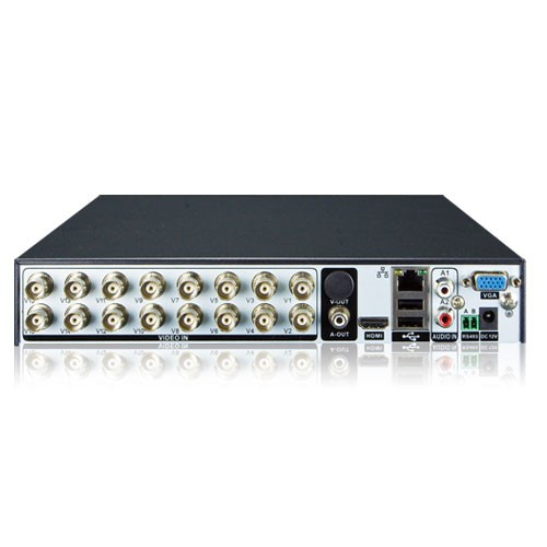 16-Channel Hybrid Digital Video Recorder, Motion Detection, CMS, H.264 on analog, 1080p AHD and Onvi
