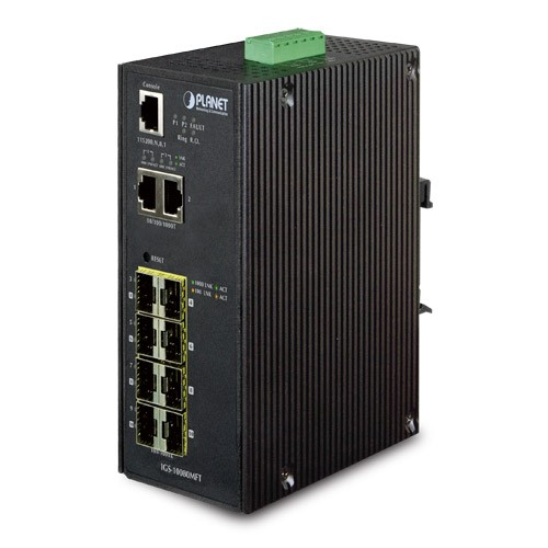 IP30 Industrial 8* 100/1000F SFP + 2*10/100/1000T Full Managed Ethernet Switch