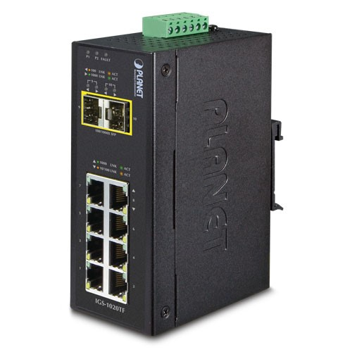 IP30 Industrial 8-Port 10/100/1000T + 2-Port 100/1000X SFP Ethernet Switch