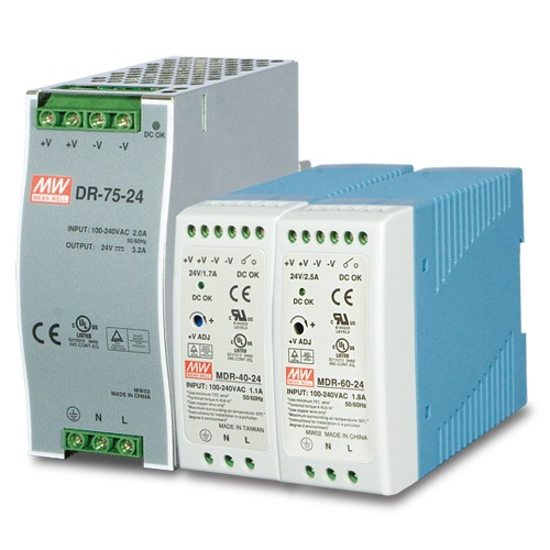 24V, 40W Din-Rail Power Supply (MDR-40-24) - slim type