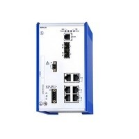 Kompaktní DIN Rail Switch, red: LA, MRP, RSTP, LB