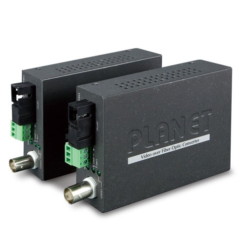 1-Channel 4-in-1 Video over Gigabit Fiber(FC) converter up to 20KM