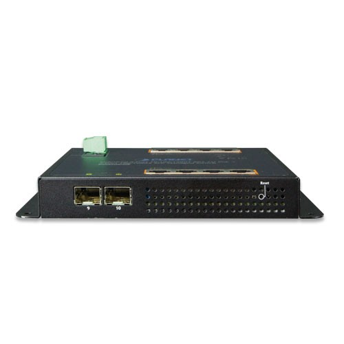 8-Port 1000T 802.3at PoE + 2-Port 100/1000X SFP Wall-mount Managed Ethernet Switch
