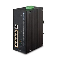 IP30 5-Port Gigabit Switch with 4-Port 802.3AT POE+