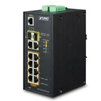 IP30 Industrial L2+/L4 8-Port 1000T 802.3at PoE + 2-Port 10/100/1000T + 2-Port 100/1000X SFP Full Ma