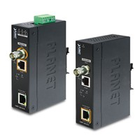 Industrial 1-Port Long Reach Gigabit Ultra PoE over Coax/UTP Extender Kit