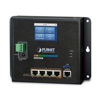 Industrial Wall-mount Gigabit Router with 4-Port 802.3at PoE+ and LCD Touch Screen