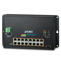 Industrial 16-Port 10/100/1000T 802.3at PoE+ 2-Port 100/1000X SFP Wall-mounted Managed Switch
