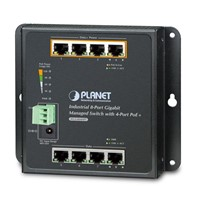 8-Port 1000TP Wall-mount Managed Ethernet Switch