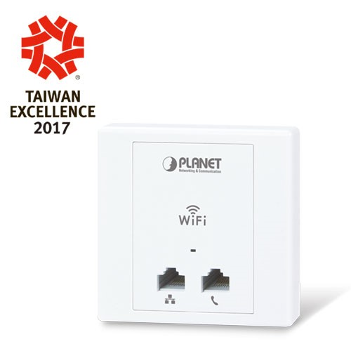 802.11n 300Mbps In-Wall Access Point, 802.3af/at PoE PD, supports WAPC series AP controller (EU Type